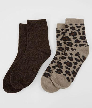 BKE 2 Pack Soft Crew Socks