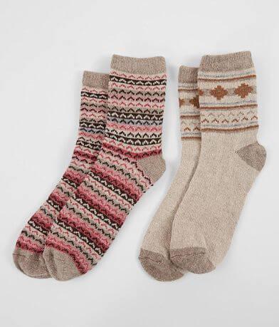 BKE 2 Pack Patterned Socks