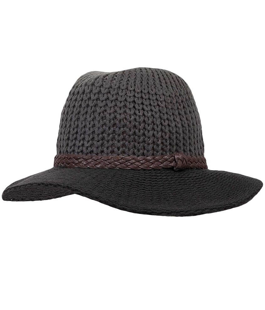Sweater Knit Wide Brim Hat front view