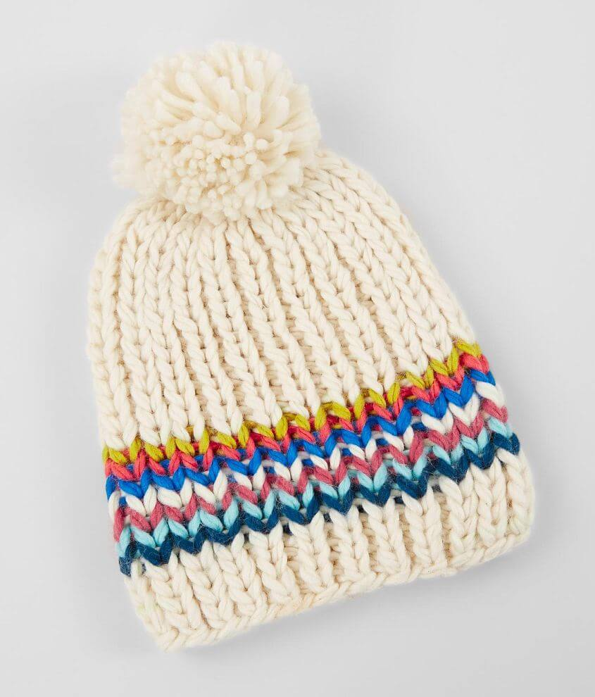 Cable Knit Beanie front view