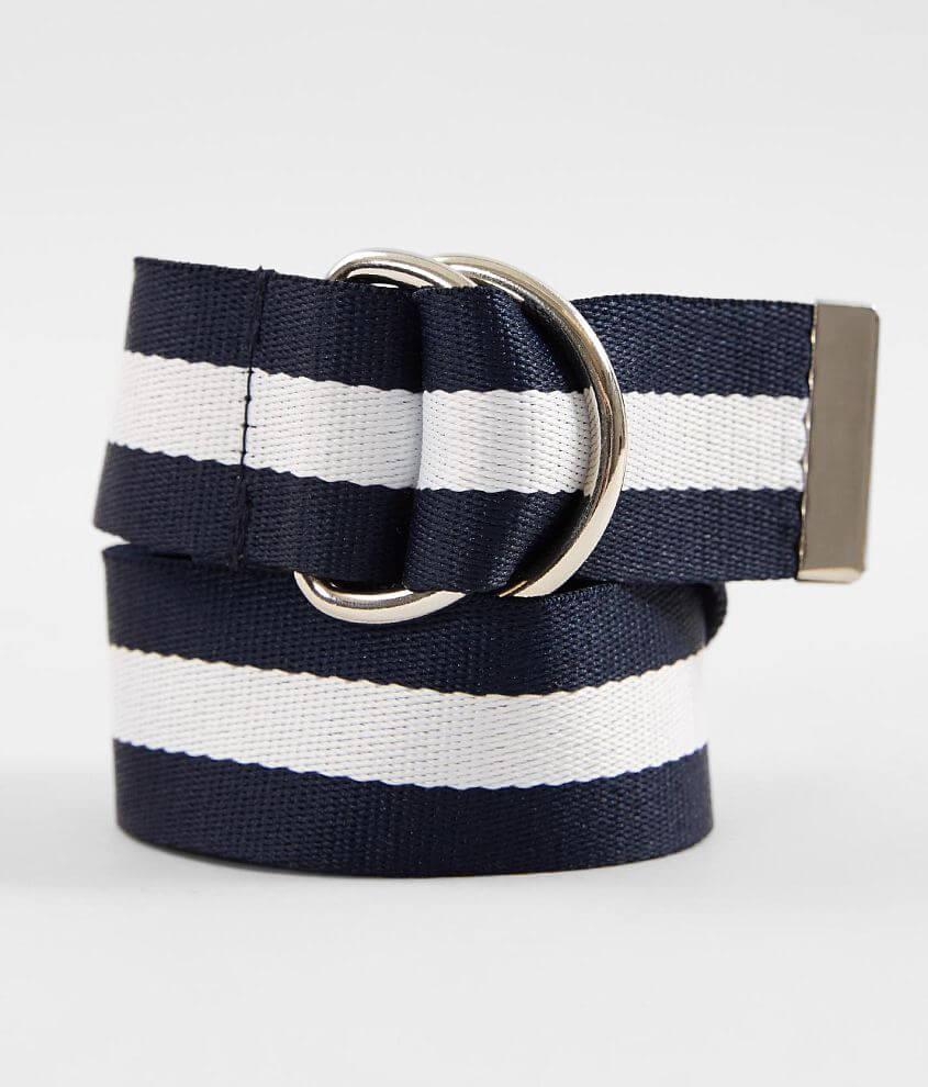 BKE Striped Belt front view