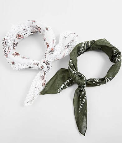 Accessory Collective 2 Pack Bandana Hair Scarves
