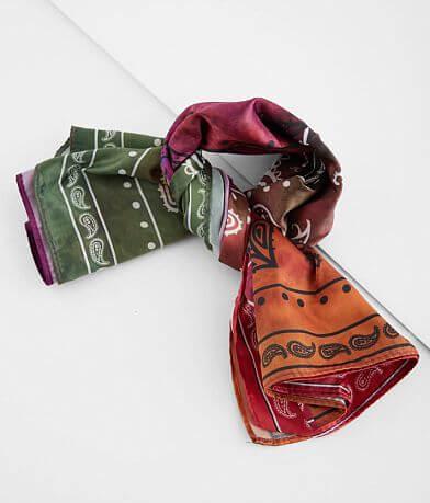 BKE Tie Dye Paisley Satin Fashion Scarf