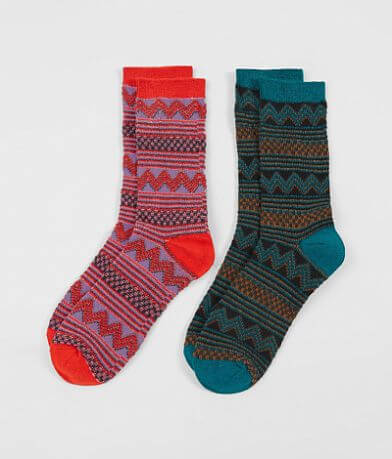 BKE 2 Pack Patterned Socks
