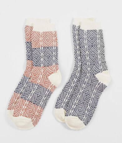 BKE 2 Pack Textured Socks