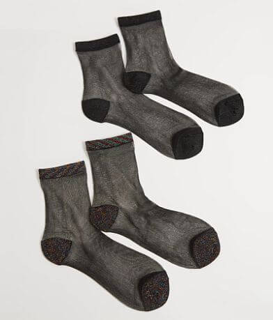 Daytrip Glitter 2 Pack Socks