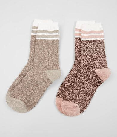 BKE 2 Pack Metallic Socks