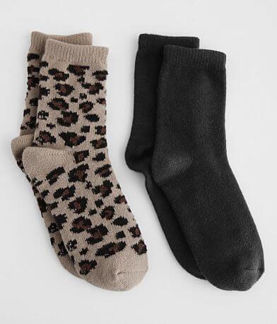 BKE 2 Pack Plush Ankle Socks