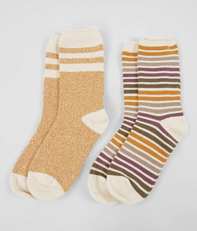 BKE 2 Pack Striped Socks
