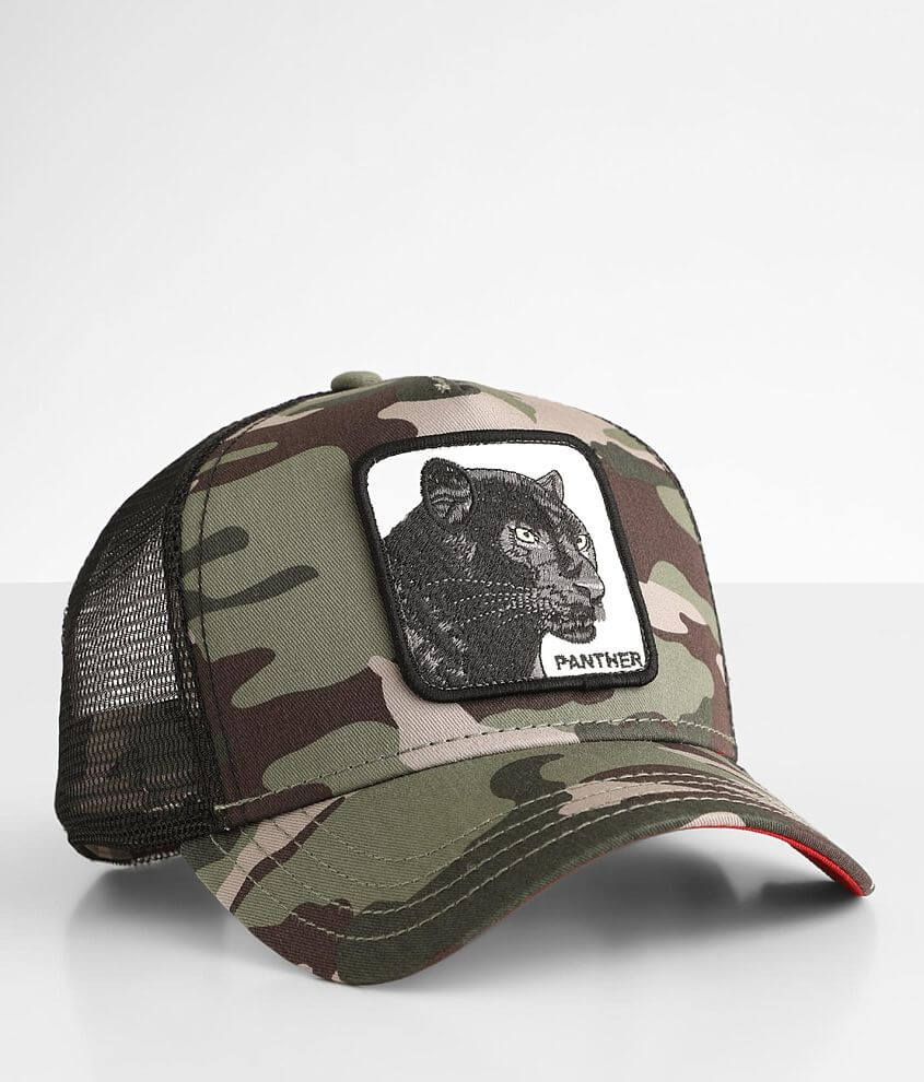 Goorin Brothers Black Panther Trucker Hat front view