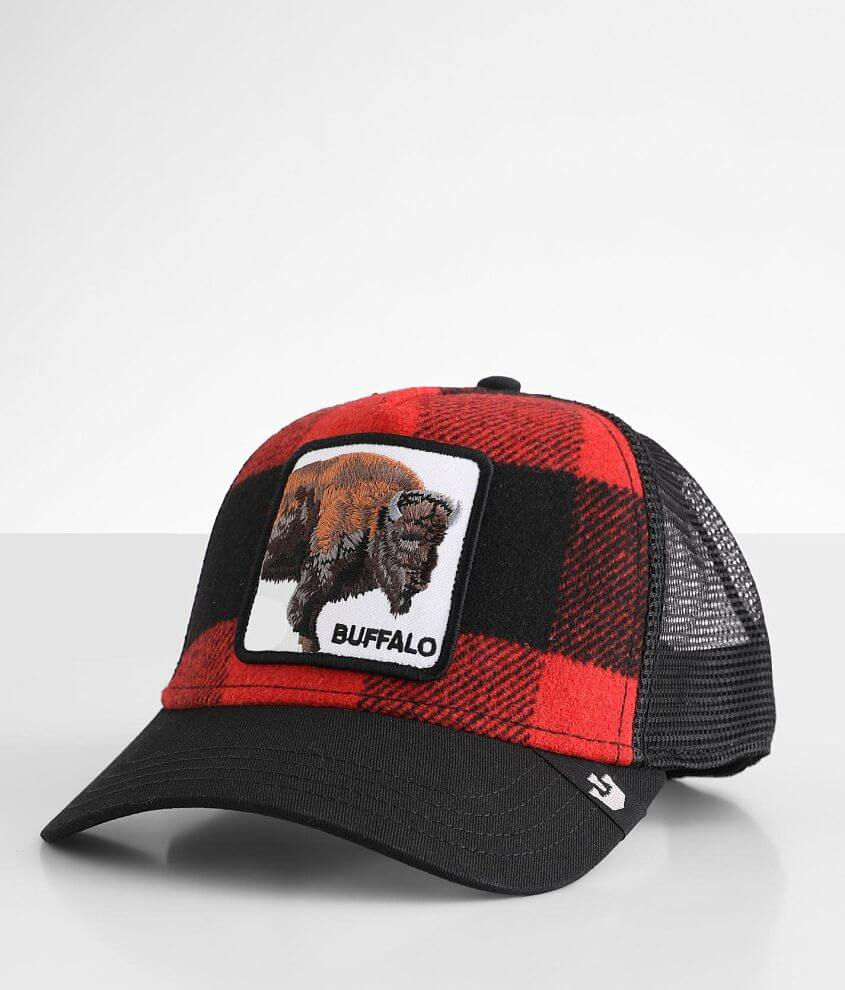 Goorin Brothers Buffalo Plaid Trucker Hat front view