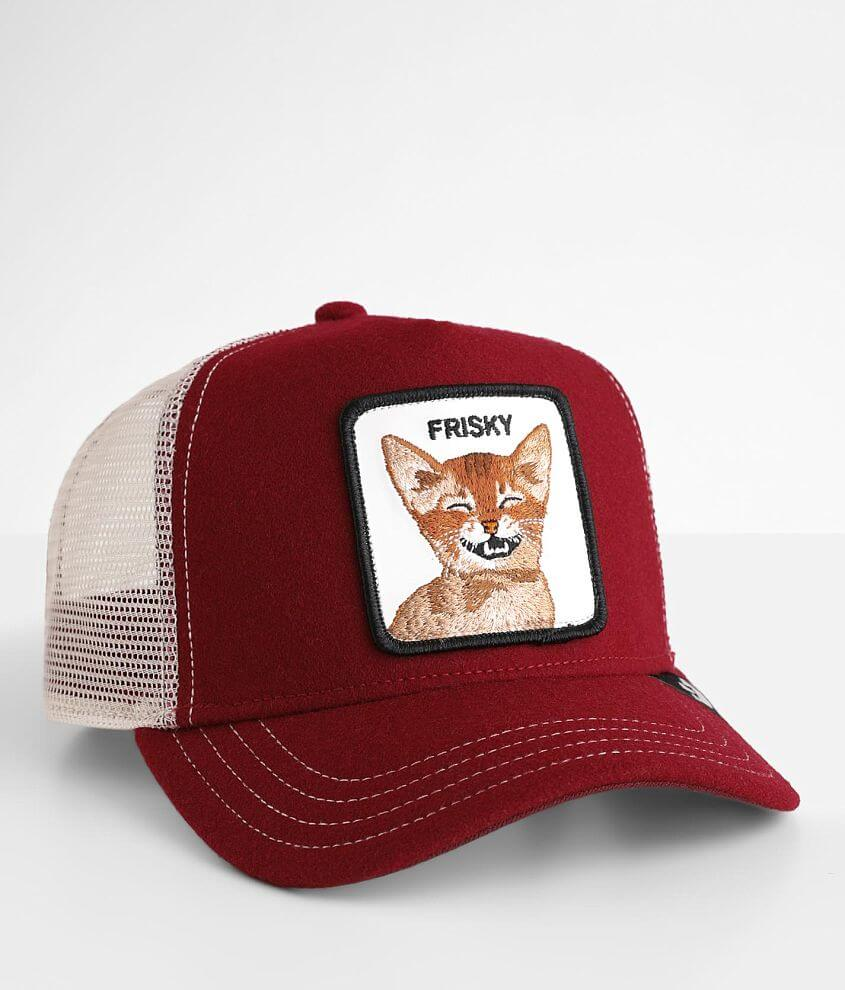 Goorin Brothers Frisky Whiskey Trucker Hat front view