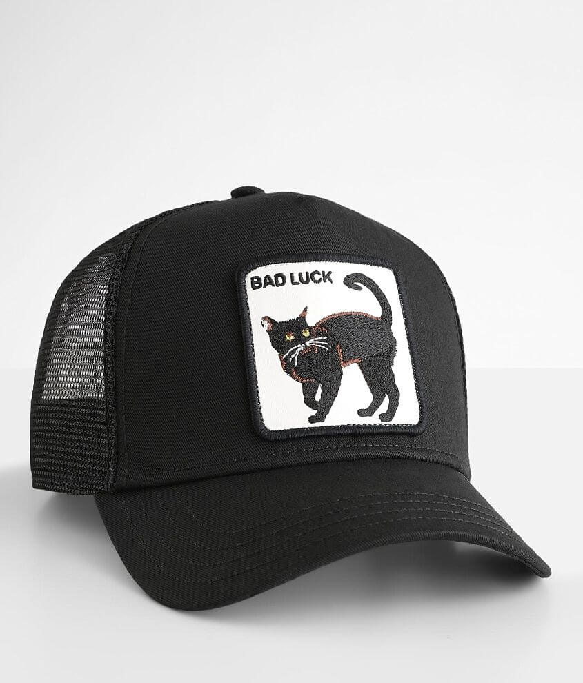 Goorin Brothers Bad Luck Cat Trucker Hat front view