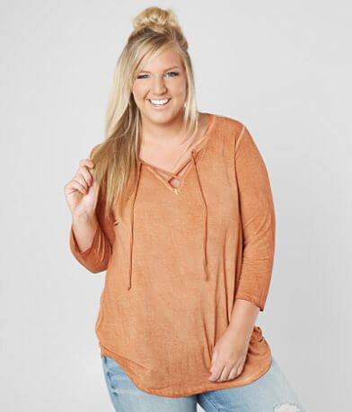 BKE Washed Top - Plus Size Only