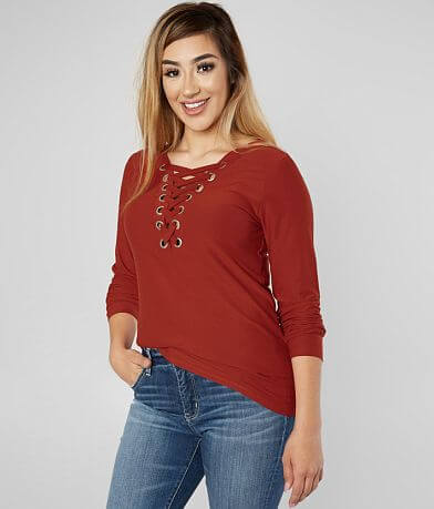 8cb7987d6df42b Daytrip Lace-Up Top - Special Pricing