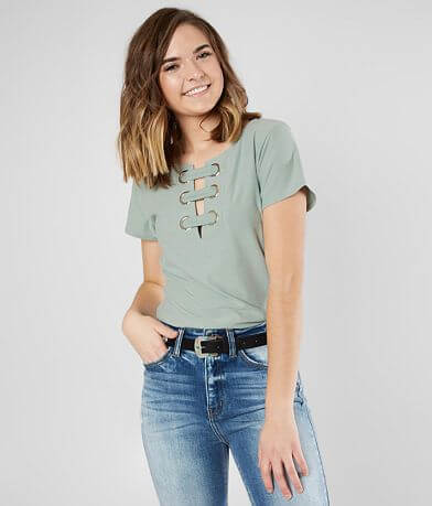 Daytrip Faux Suede Strappy Top