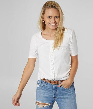 Daytrip Ribbed Scoop Neck Top