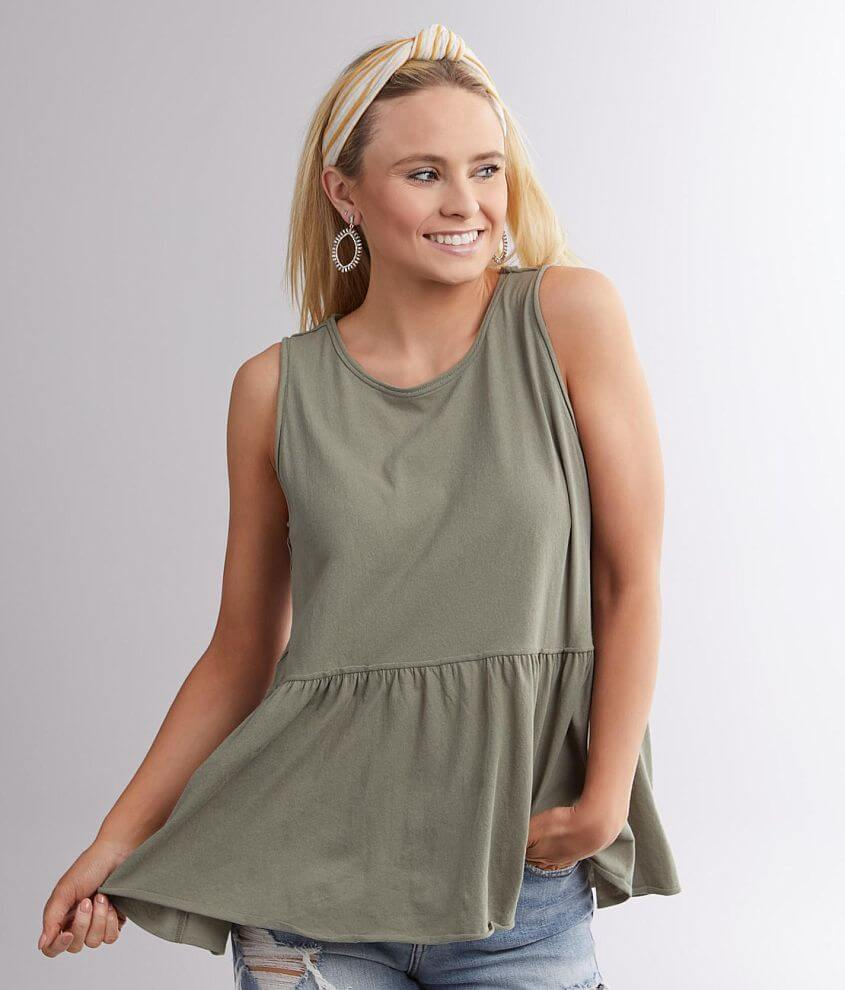 BKE Babydoll Tank Top front view