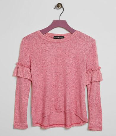 Girls - Derek Heart Ruffle Top