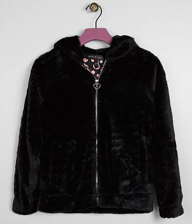 Girls - Derek Heart Faux Fur Hooded Jacket