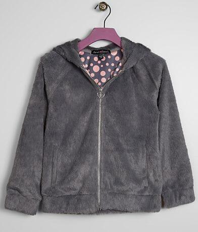 Girls - Derek Heart Faux Fur Hooded Jacket