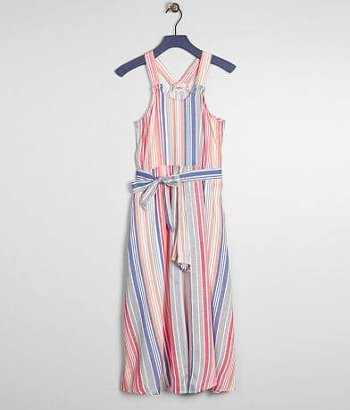 Girls - Daytrip Striped Maxi Romper