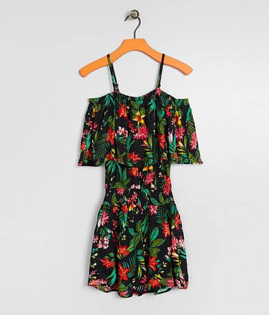 Girls - Daytrip Floral Cold Shoulder Romper