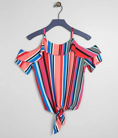 Girls - Daytrip Ruffle Striped Top