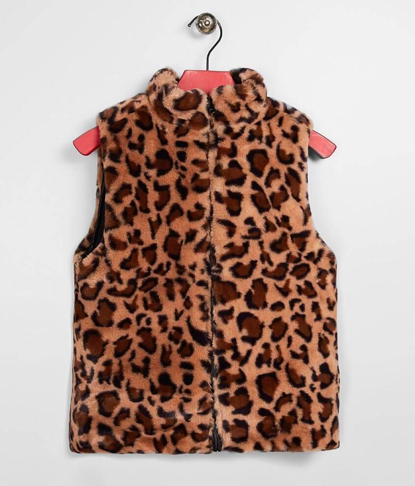 Girls - Daytrip Faux Fur Reversible Vest front view