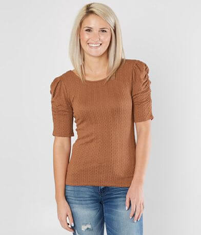 Good Luck Gem Textured Knit Top