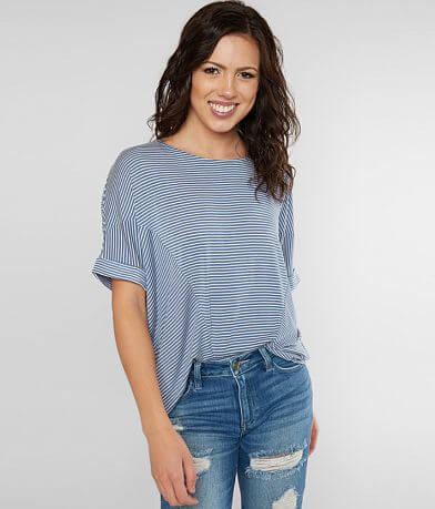 8b5ea541019e2e Daytrip Striped Dolman Top