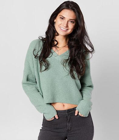 Daytrip Cropped V-Neck Sweater