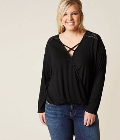 Good Luck Gem Suprlice Top - Plus Size Only