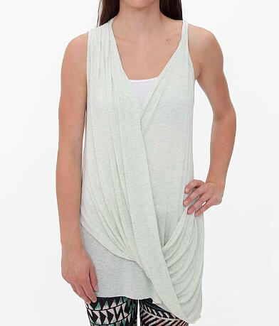 red by BKE Raw Edge Tank Top