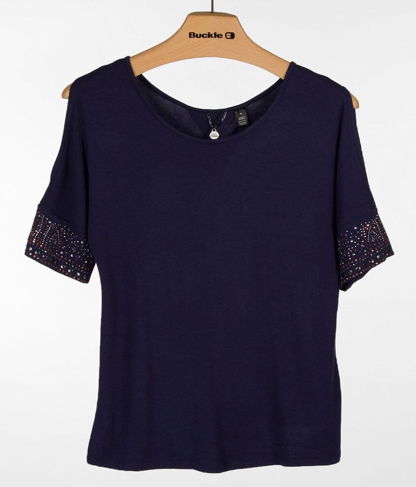 BKE Boutique Embellished Top front view