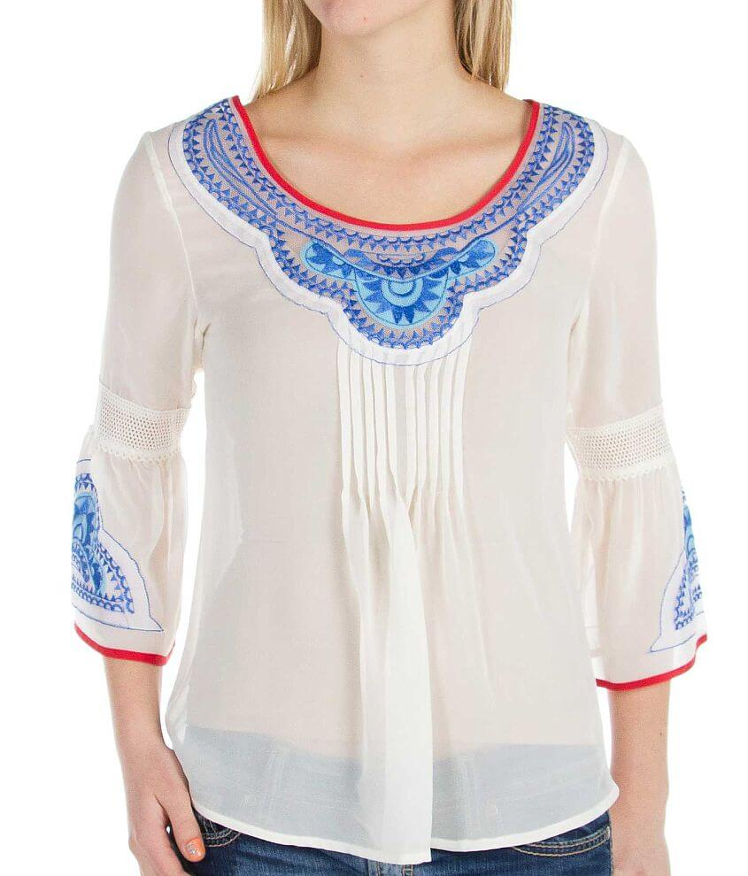 Gimmicks by BKE Chiffon Top front view
