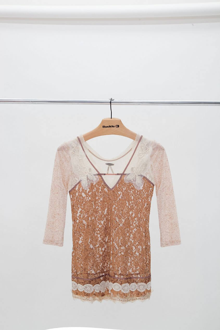 Gimmicks by BKE Lace Top front view