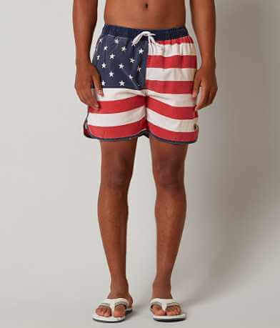 Rowdy Gentlemen American Flag Stretch Boardshort
