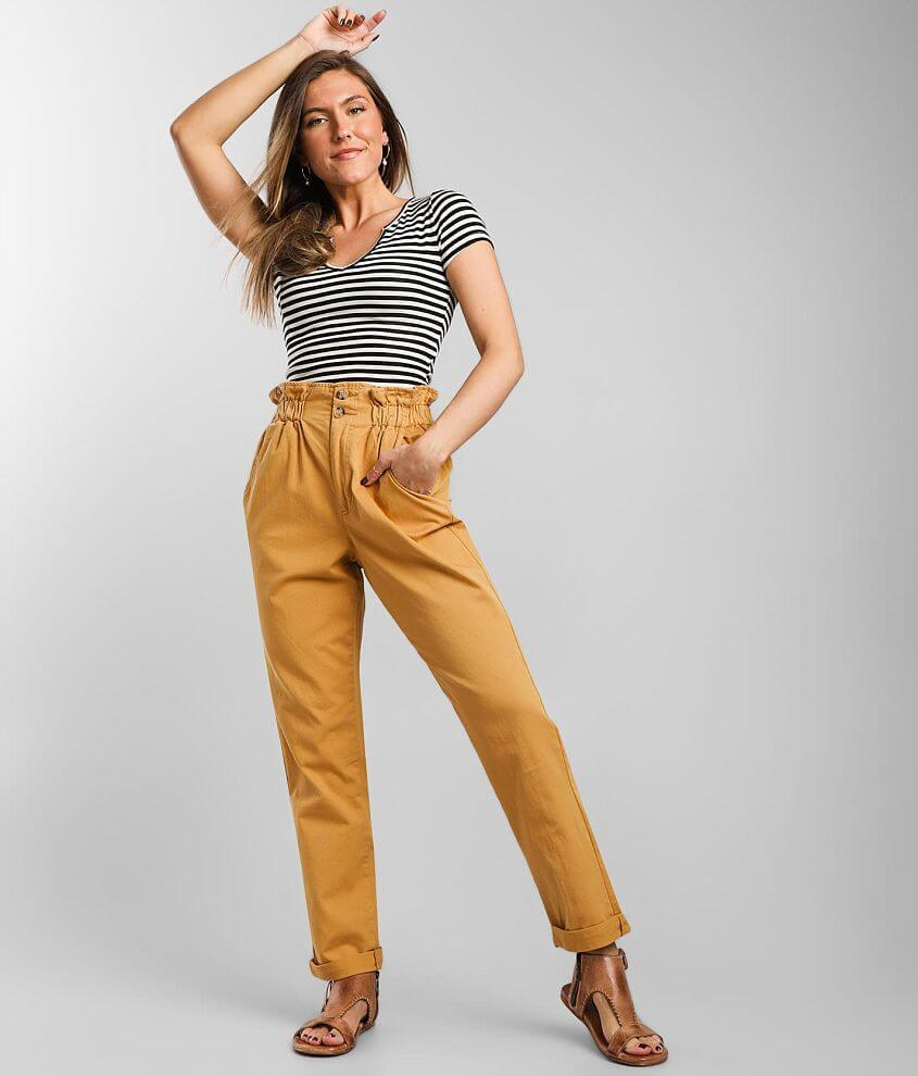 BKE Woven Paperbag Taper Pant front view