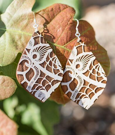 Grounded Goods Design Lace Teardrop Earring