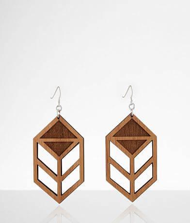 Grounded Goods Design Chevron Wood Earring