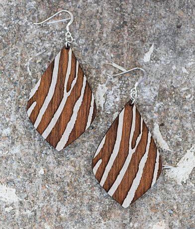 Grounded Goods Design Zebra Petal Earring