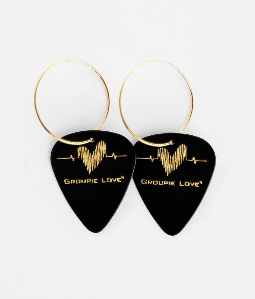 Groupie Love® Heart Guitar Pick Earring front view