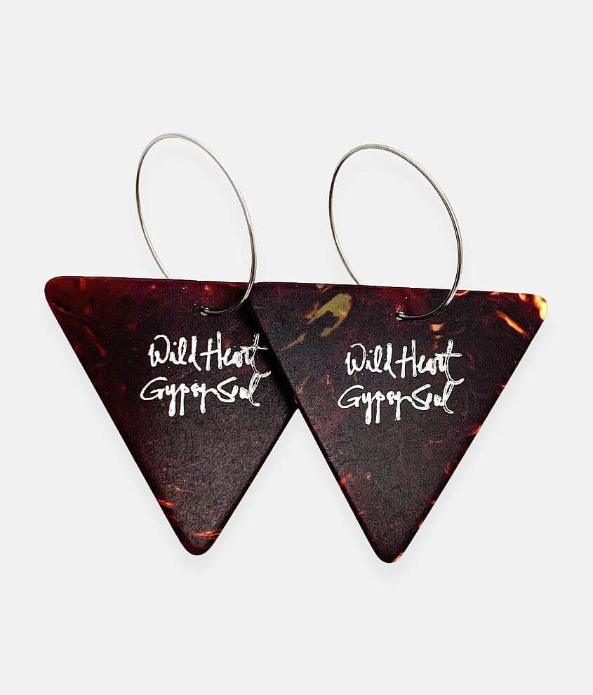 Groupie Love® Triangle Guitar Pick Earring front view