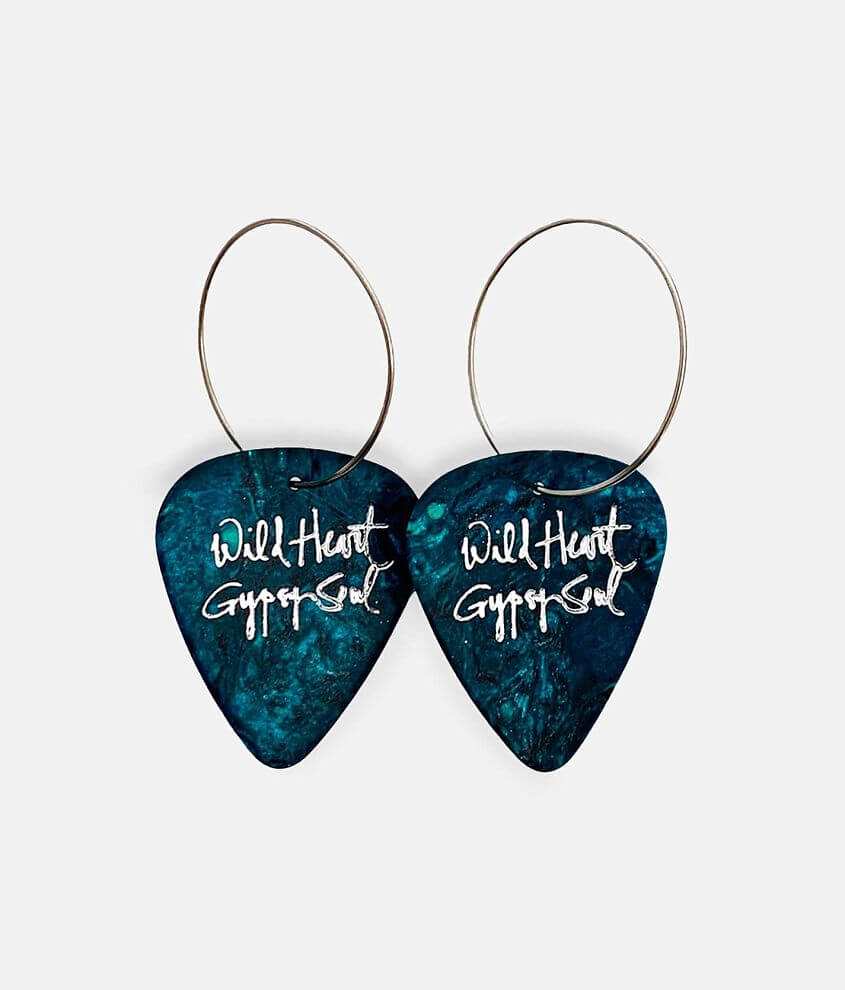 Groupie Love® Turquoise Guitar Pick Earring front view