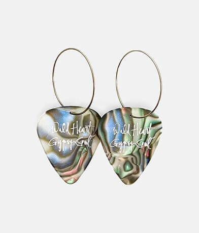 Groupie Love® Abalone Guitar Pick Earring