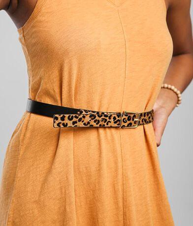 BKE Cheetah Print Cowhide Belt