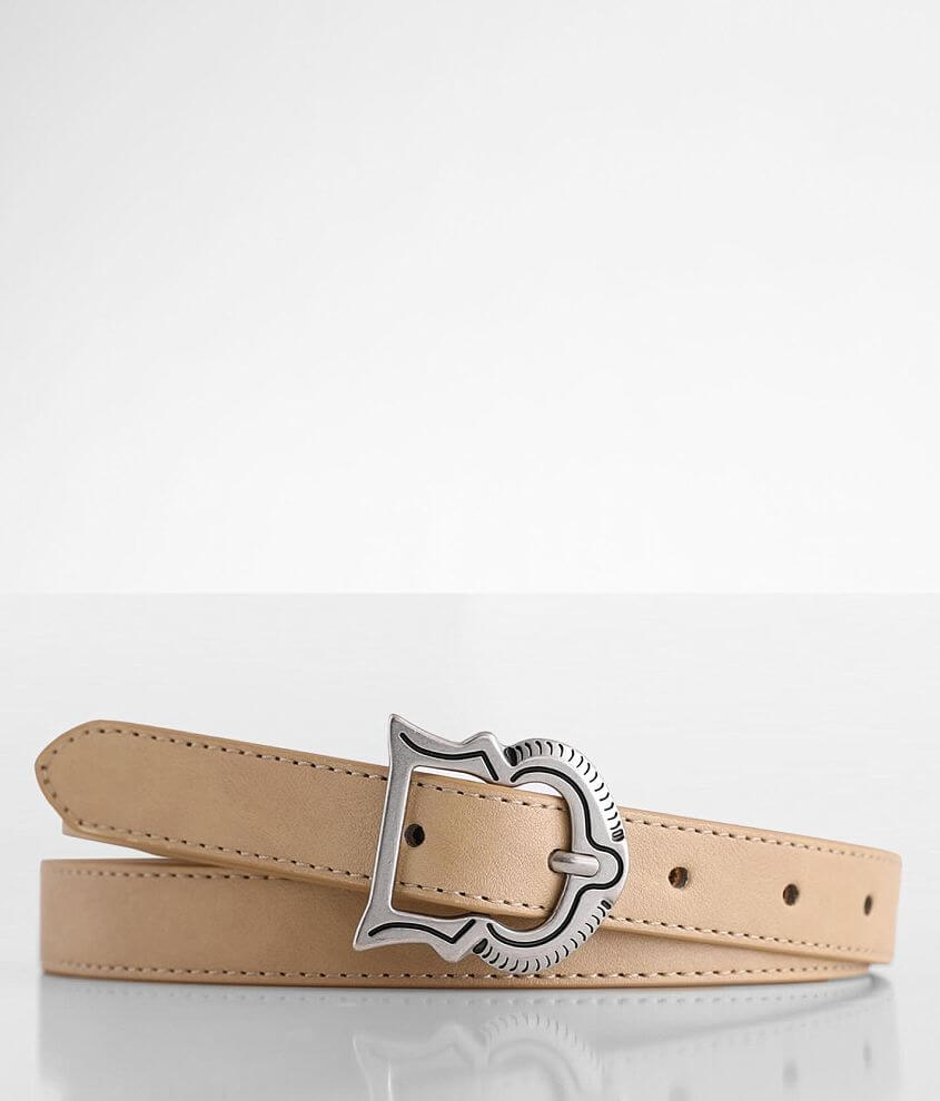 BKE Skinny Faux Leather Belt front view