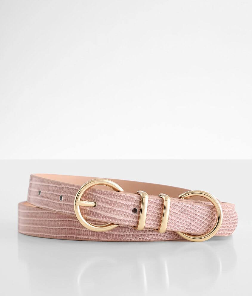 BKE Double Circle Buckle Belt front view