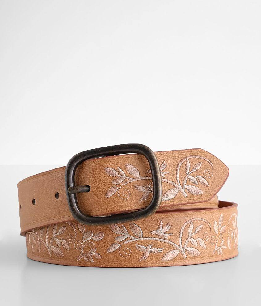 BKE Embroidered Foliage Belt front view